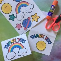 Girl Scout Thank You Card Craft