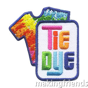 Tie Dye Patch -- Shirt. Tie dye shirts are a great group activity! Your troop will love the Tie Dye patch from MakingFriends®.com. via @gsleader411