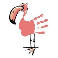 girl scouts patch, flamingo craft