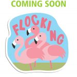 Girl Scout Flocking Flamingo Patch
