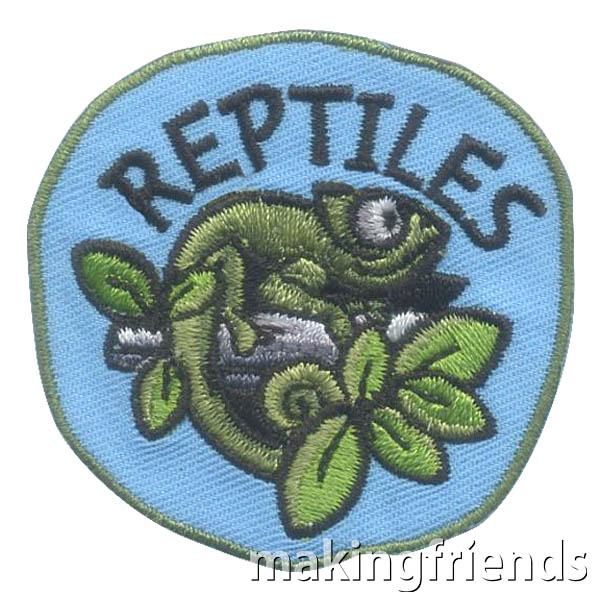Reptiles Patch Scouts and kids of all ages love reptiles. Have fun learning about all different kinds and find your favorite to study.  #makingfriends #reptiles #learning #scouts #girlscouts #boyscouts #kids #crafts #badges #fun via @gsleader411