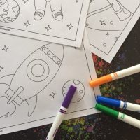Girl Scout Space Coloring Pages