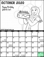 Girl Scout Monthly Calendar October 2020