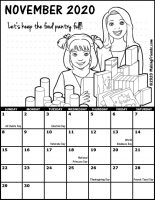 Girl Scout Monthly Calendar November 2020