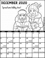 Girl Scout Monthly Calendar December 2020