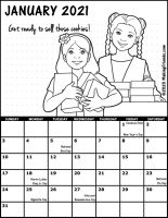 Girl Scout Monthly Calendar January 2021