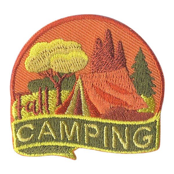 Girl Scout Fall Camping Fun Patch