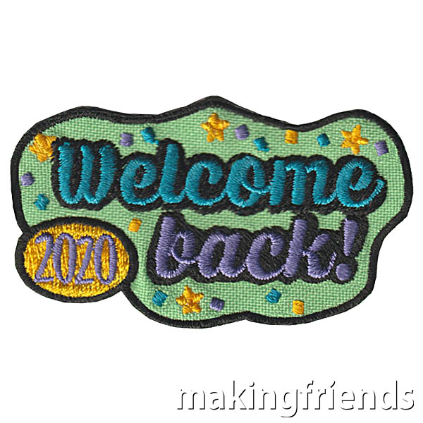 As we come back to troop meetings and events, even if online, it is a time to recognize. Our Welcome Back 2020 patch is one they will always remember! $.69 each Free Shipping Available #makingfriends #welcombackpatch #welcome2020 #2020patch #girlscouts #gspatch #funpatch via @gsleader411