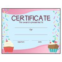 Girl Scout Cupcake Wars Patch Program Certificate