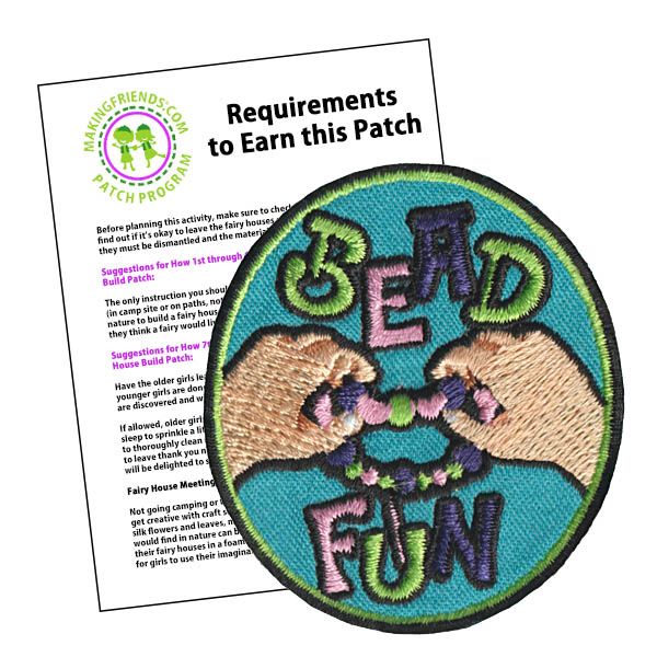 Girl Scout Bead Fun Patch