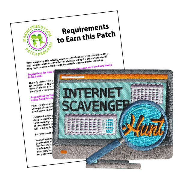 Girl Scout Internet Scavenger Hunt Patch Program