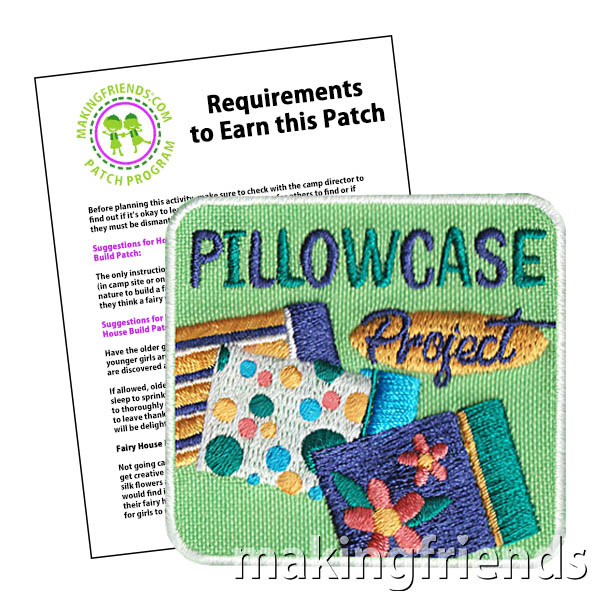 Pillowcases are needed in many places such as shelters. Here is a simple project to make them. #makingfriends #pillowcaseproject #girlscoutpatch #funpatch #gs #gsfunpatches #girlscouts #projects #communityserviceproject #helpshelters via @gsleader411