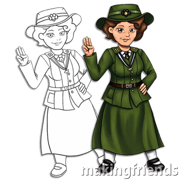 Flat Juliette Low Free Girl Scout Downloadable via @gsleader411