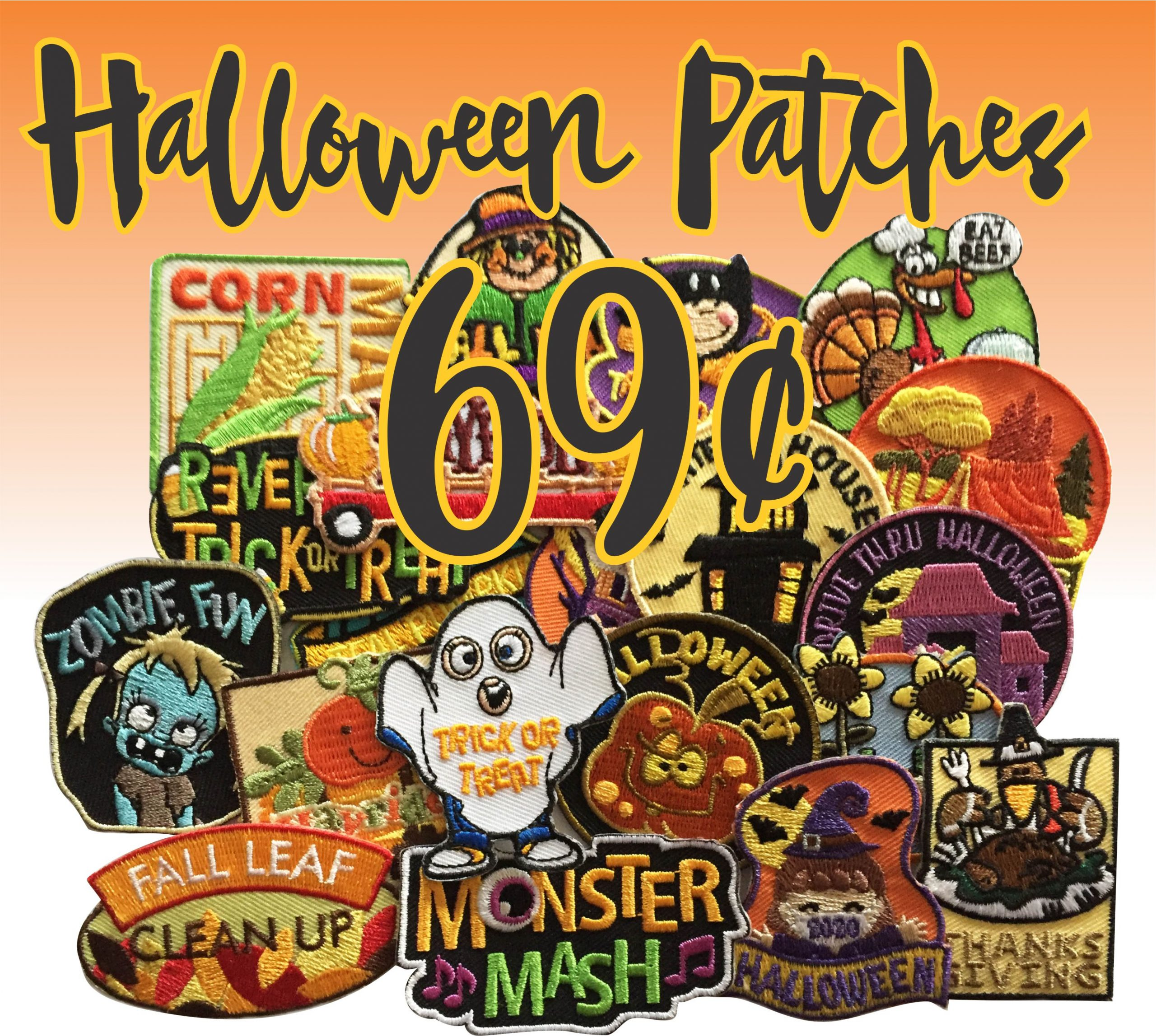 69 cent Girl Scout Halloween Patches