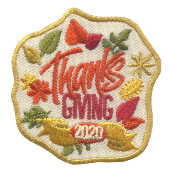 Girl Scout Thanksgiving 2020 Fun Patch