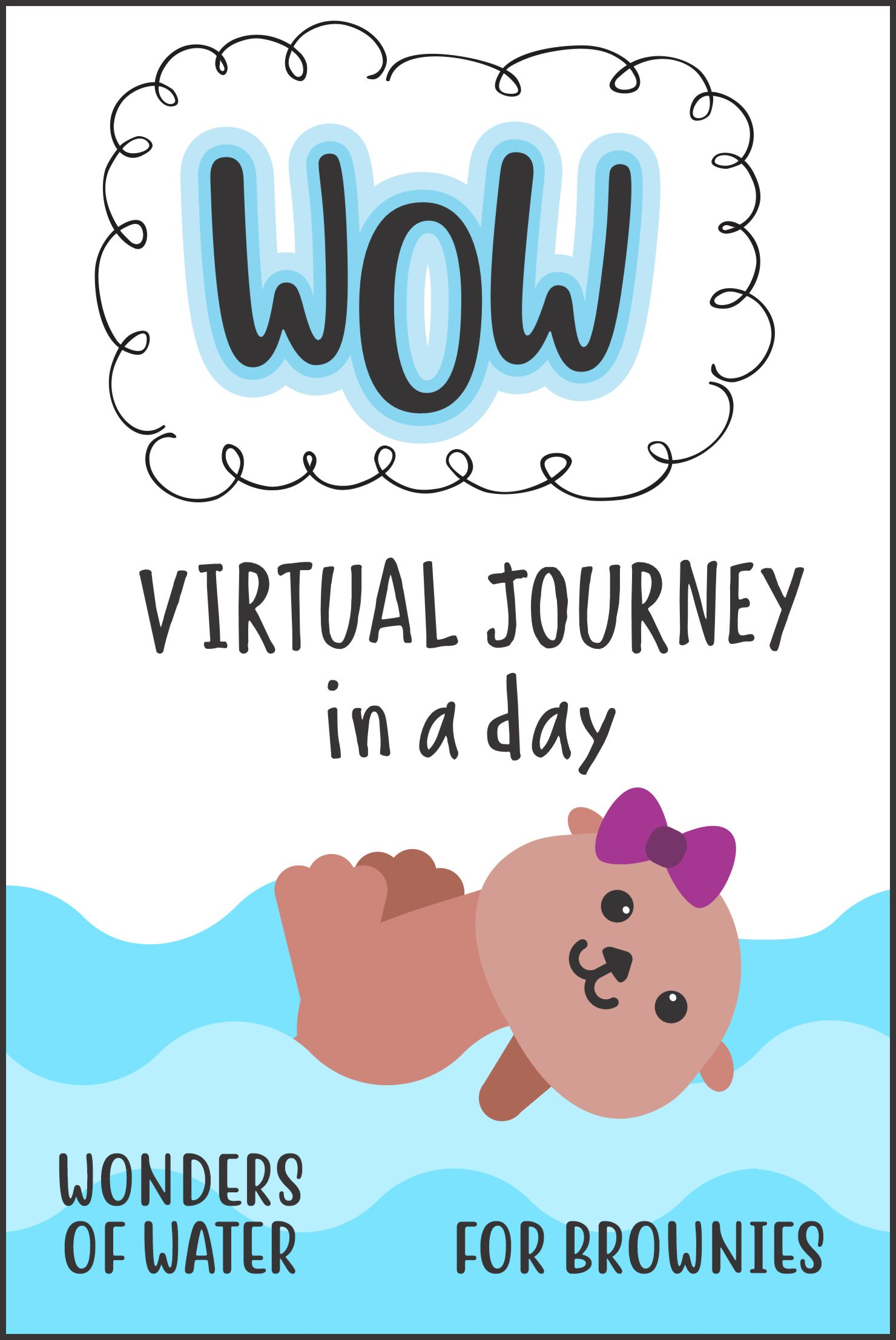 """One hour workshop presented by MakingFriends. Brownies will take an adventure with Bubbles and Miss Jackie to complete the """"WOW Journey""""! #girlscouts #onlineclass #virtualclass #wowjourney #gsjourneys #girlscoutjourney #waterjourney #browniejourney via @gsleader411"""