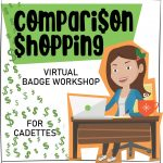 Girl Scout Cadette Virtual Workshop Comparison Shopping