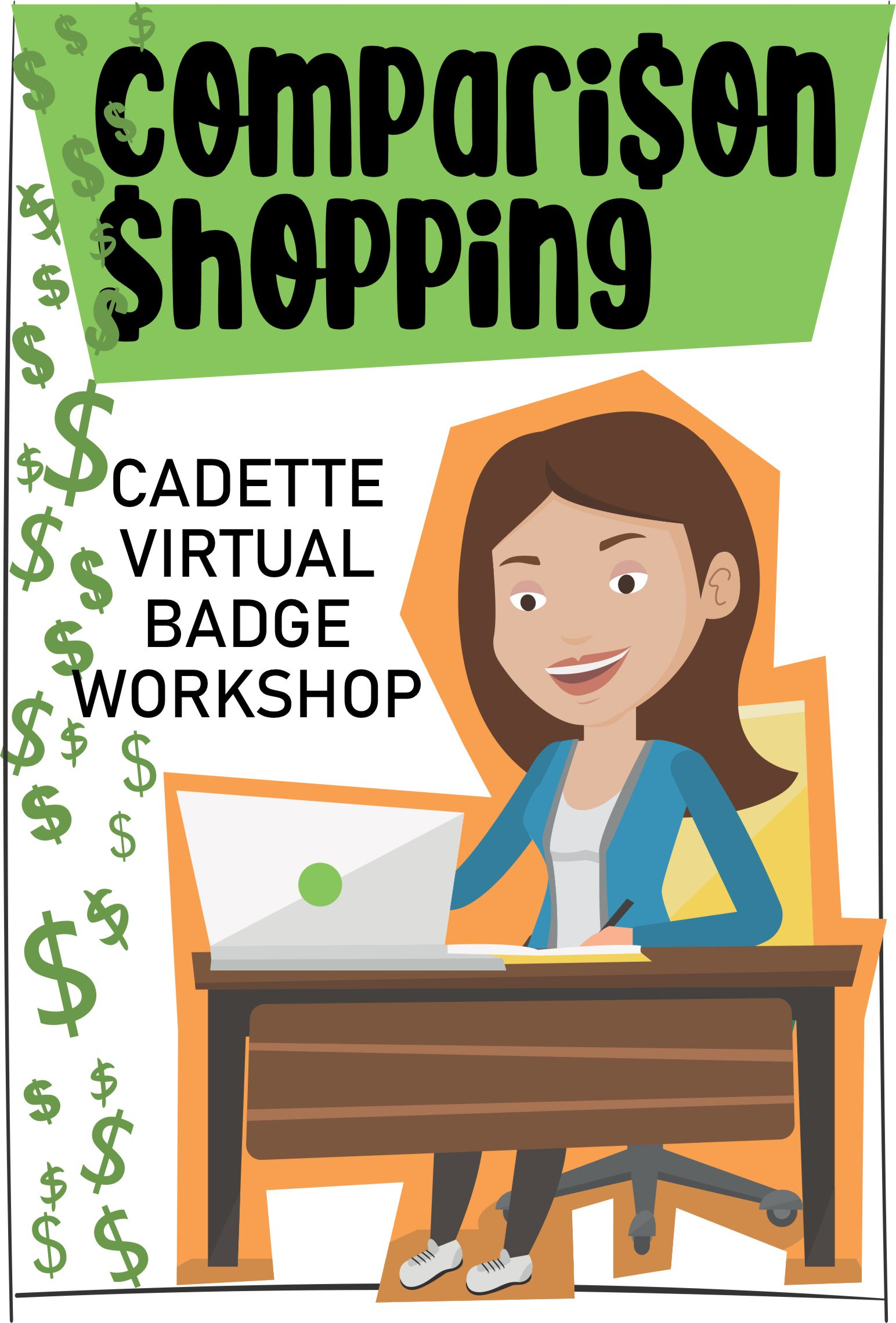 Join us for an engaging 1-hour virtual workshop where girls can learn how to comparison shop to get the best deals! #makingfriends #comparisonshopping #shopping #virtualworkshop #cadettes #gscadettes #girlscouts #onlineclass via @gsleader411