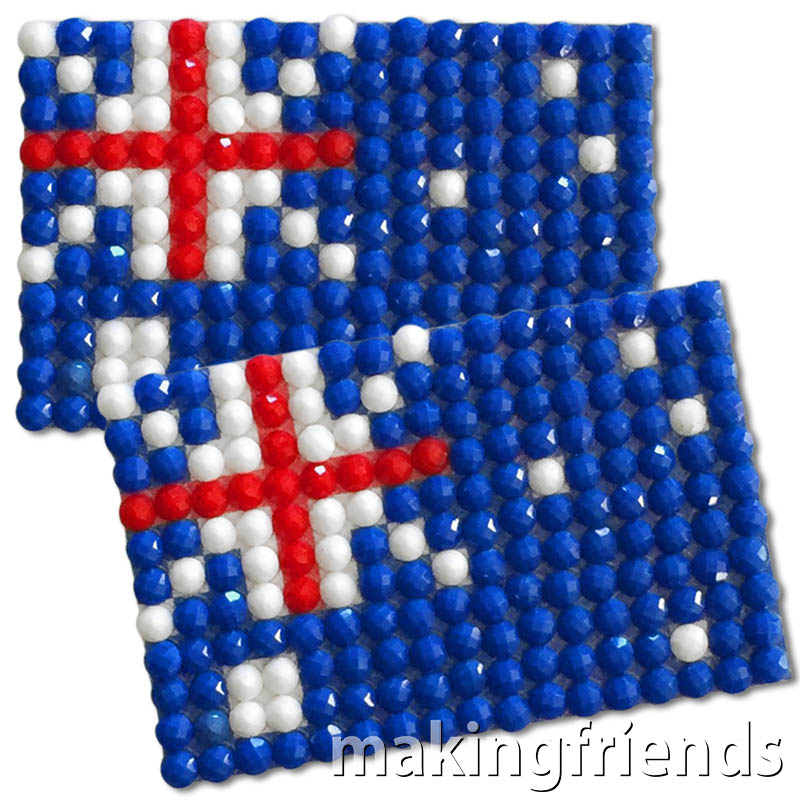 Diamond Painting Australia flag pin Girl Scout SWAP via @gsleader411