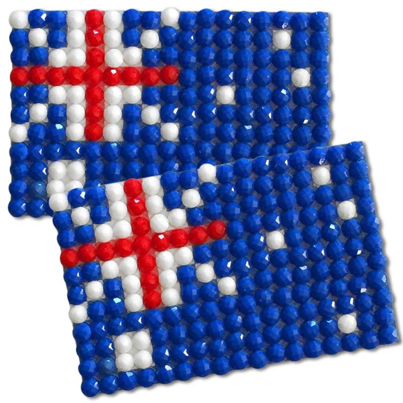 Diamond Painting Australia flag pin Girl Scout SWAP