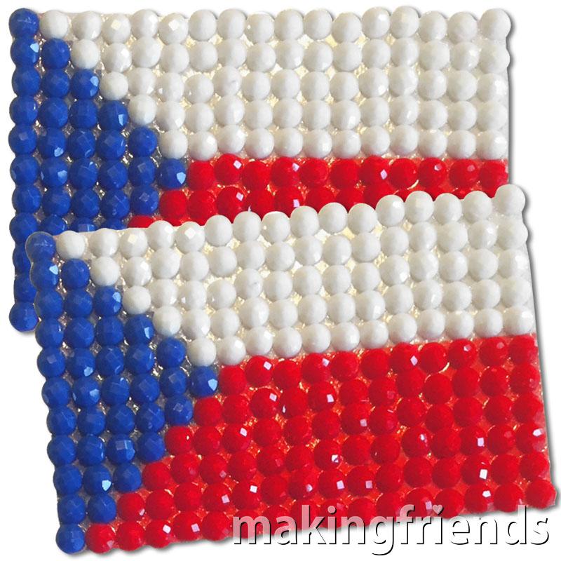 Diamond Painting Czechoslovakia flag pin Girl Scout SWAP via @gsleader411