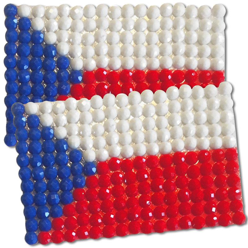 Diamond Painting Czechoslovakia flag pin Girl Scout SWAP