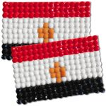 Diamond Painting Egypt flag pin Girl Scout SWAP