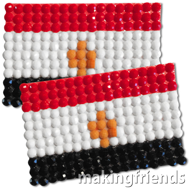 Diamond Painting Egypt flag pin Girl Scout SWAP via @gsleader411