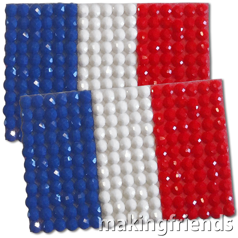 Diamond Painting France flag pin Girl Scout SWAP via @gsleader411