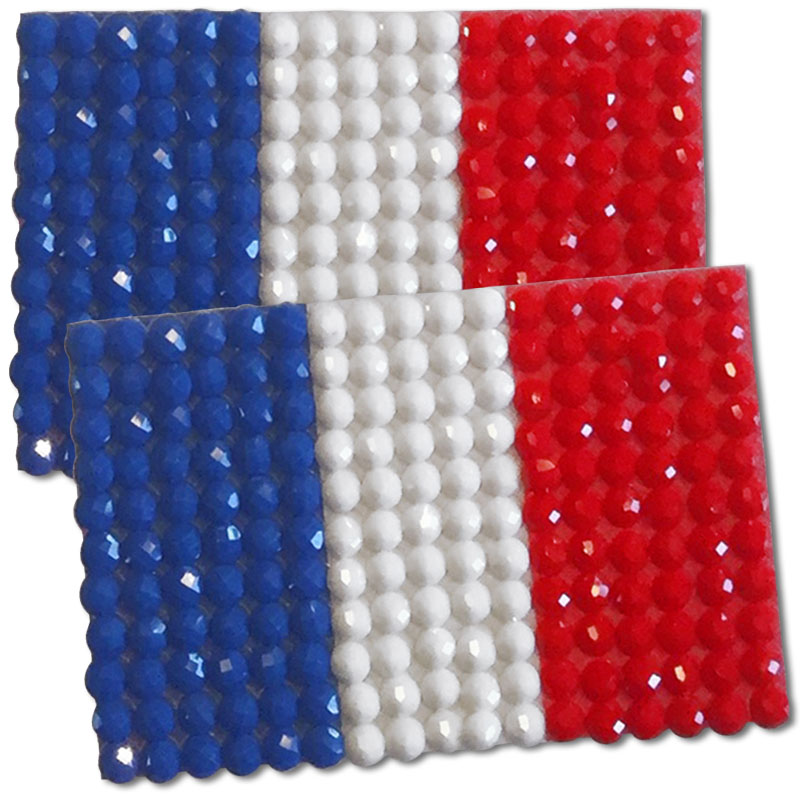 Diamond Painting France flag pin Girl Scout SWAP
