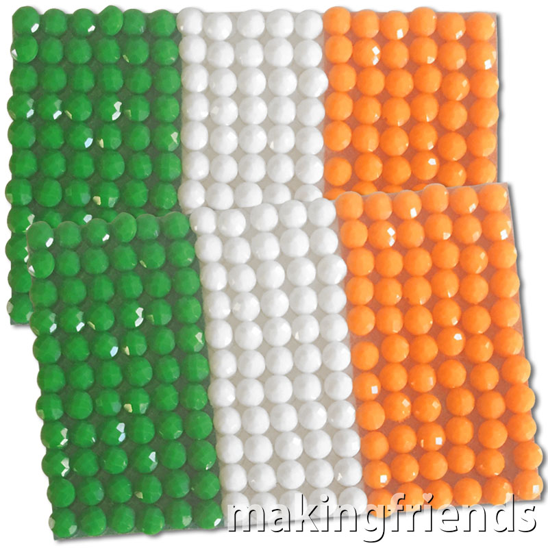 Diamond Painting Ireland flag pin Girl Scout SWAP via @gsleader411