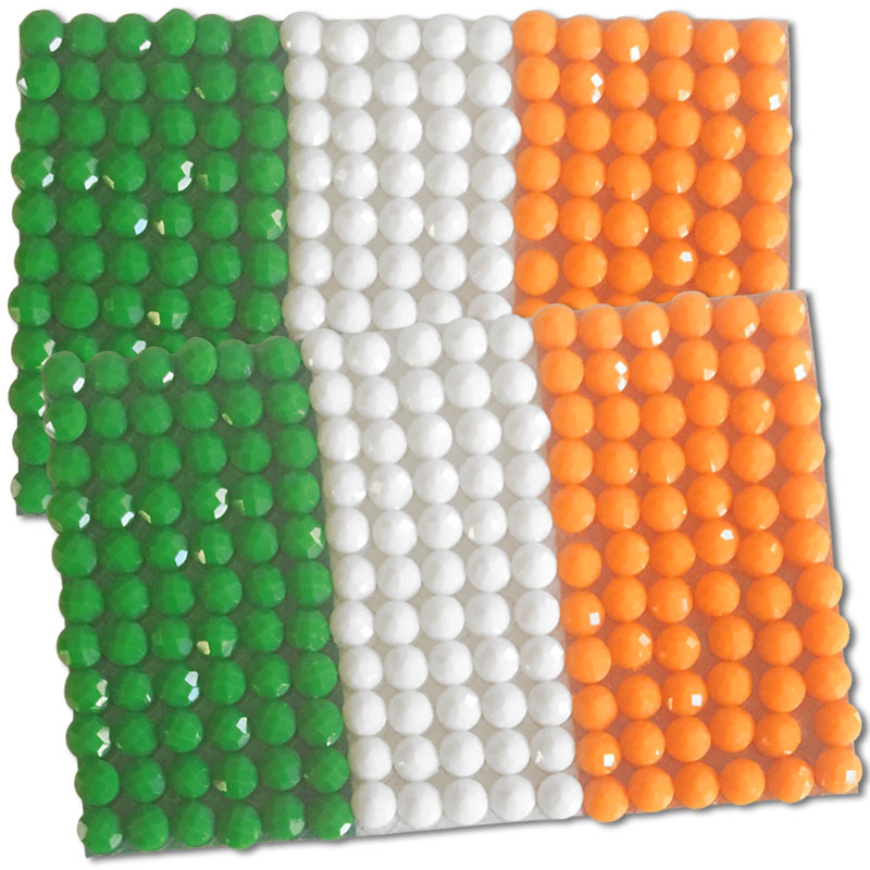Diamond Painting Ireland flag pin Girl Scout SWAP