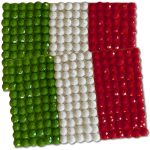 Diamond Painting Italy flag pin Girl Scout SWAP