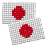 Diamond Painting Japan flag pin Girl Scout SWAP