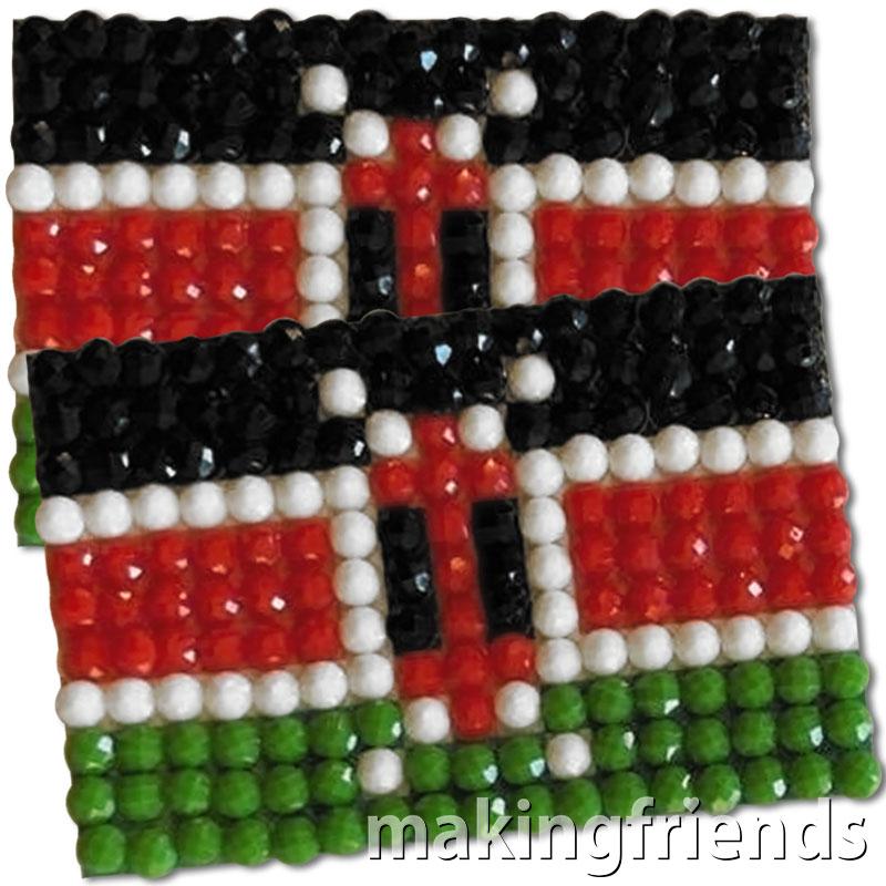 Diamond Painting Kenya flag pin Girl Scout SWAP via @gsleader411