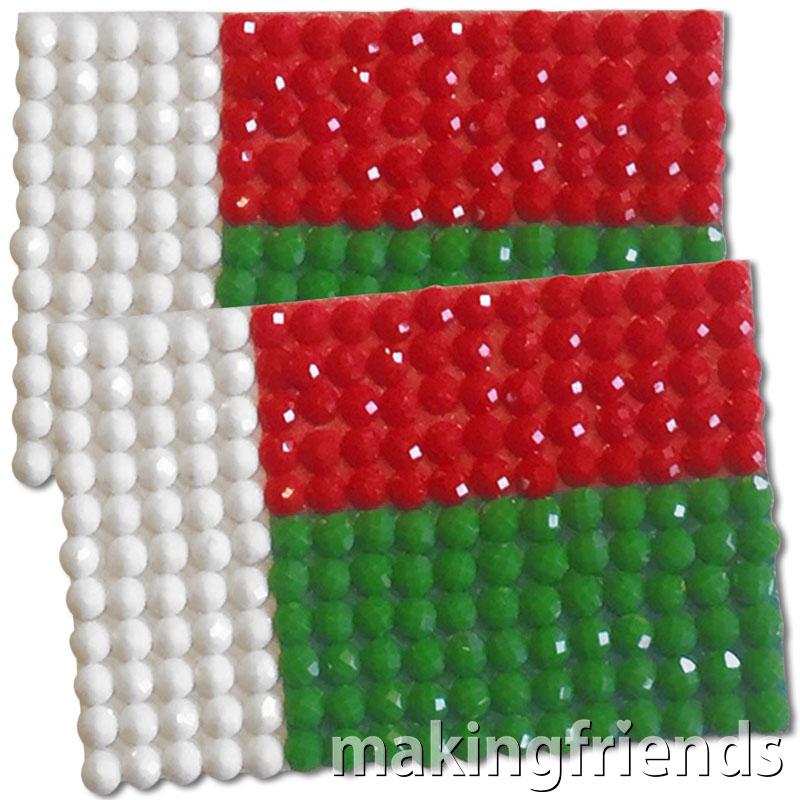 Diamond Painting Madagascar flag pin Girl Scout SWAP via @gsleader411