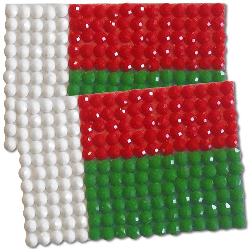 Diamond Painting Madagascar flag pin Girl Scout SWAP