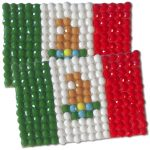 Diamond Painting Mexico flag pin Girl Scout SWAP