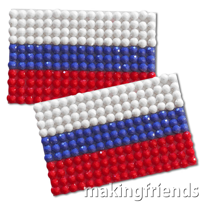 Diamond Painting Russia flag pin Girl Scout SWAP via @gsleader411