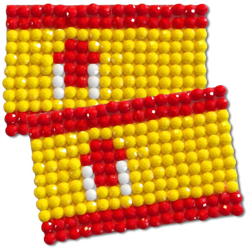 Diamond Painting Spain flag pin Girl Scout SWAP
