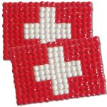 Diamond Painting Switzerland flag pin Girl Scout SWAP