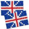Diamond Painting United Kingdom flag pin Girl Scout SWAP