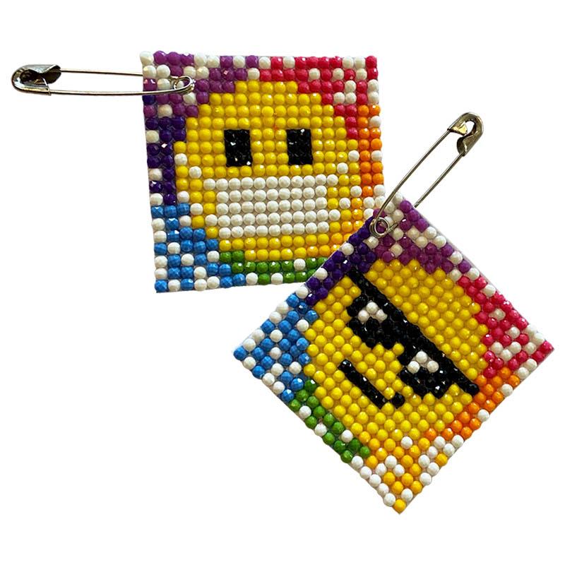 Emoji Diamond Pin Friendship Swap