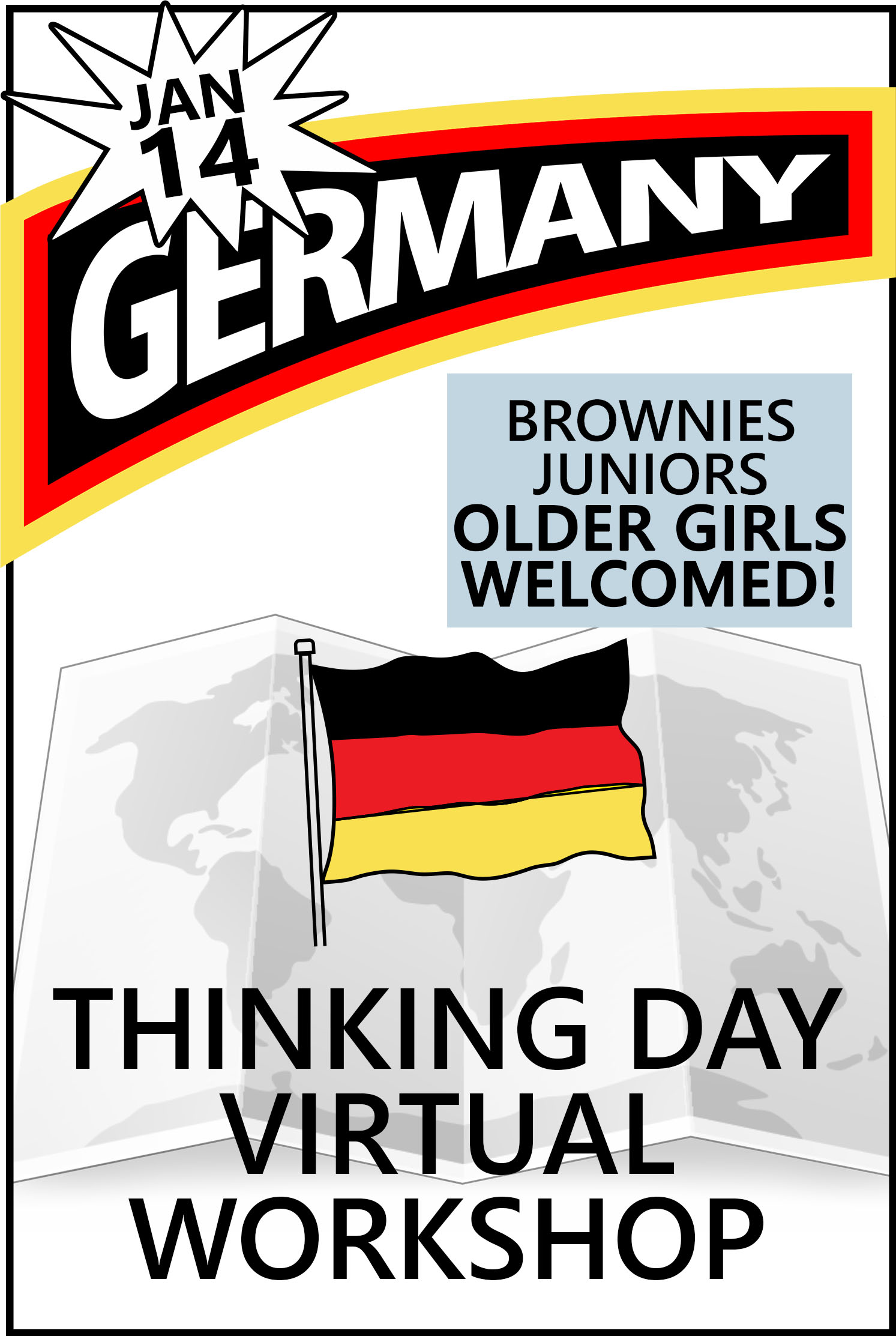 Explore German traditions, food, clothing, customs, and more. Developed for Brownies and Juniors but older girls are certainly welcomed! Includes Supplies! #makingfriends #virtualclass #thinkingday #virtualworshop #onlineclass #germany #thinkingdayworkshop via @gsleader411