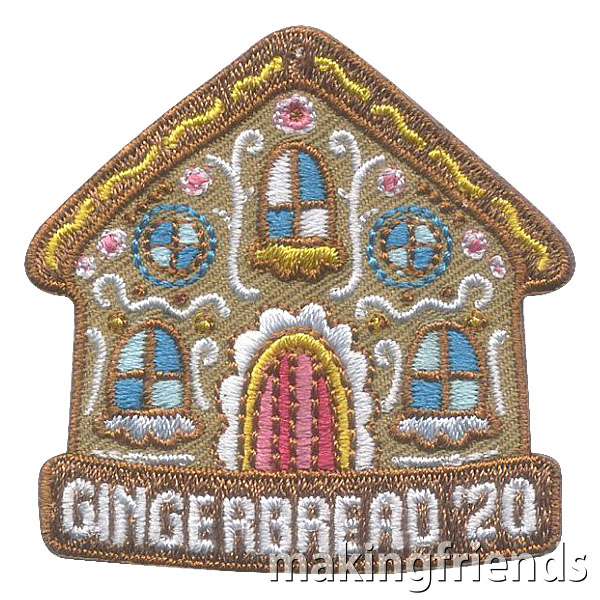 Girl Scout Gingerbread 2020 Fun Patch via @gsleader411