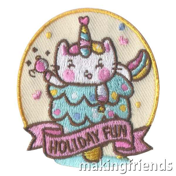 Girl Scout Holiday Fun Patch via @gsleader411