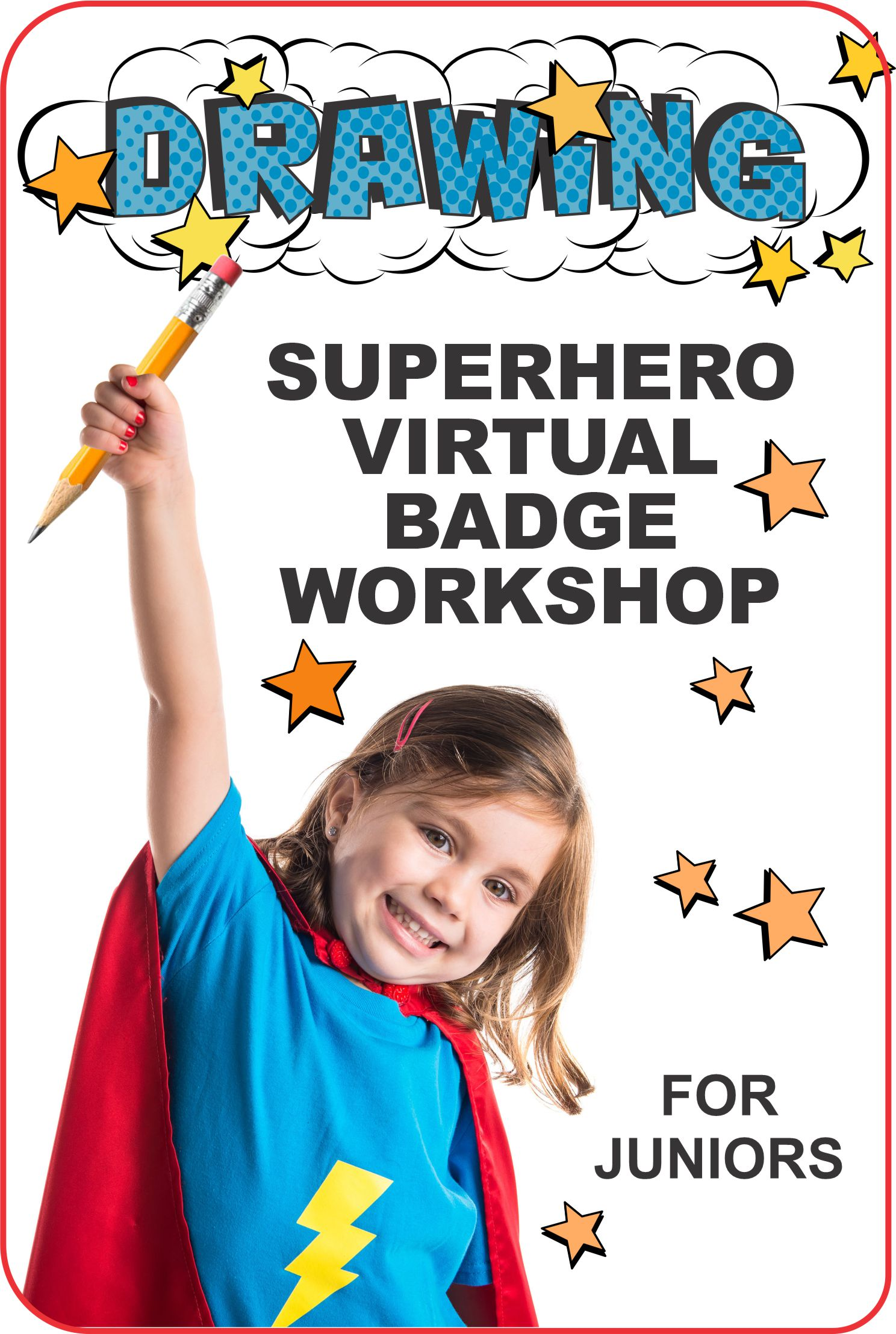 """Join us online for a 1-hour virtual workshop where your juniors earn the """"Drawing"""" badge while learning about drawing and design fundamentals! #makingfriends #virtualclass #drawingpatch #patchprogram #virtual #onlineclass #virtualworkshop #onlinegirlscouts #virtualscouts via @gsleader411"""