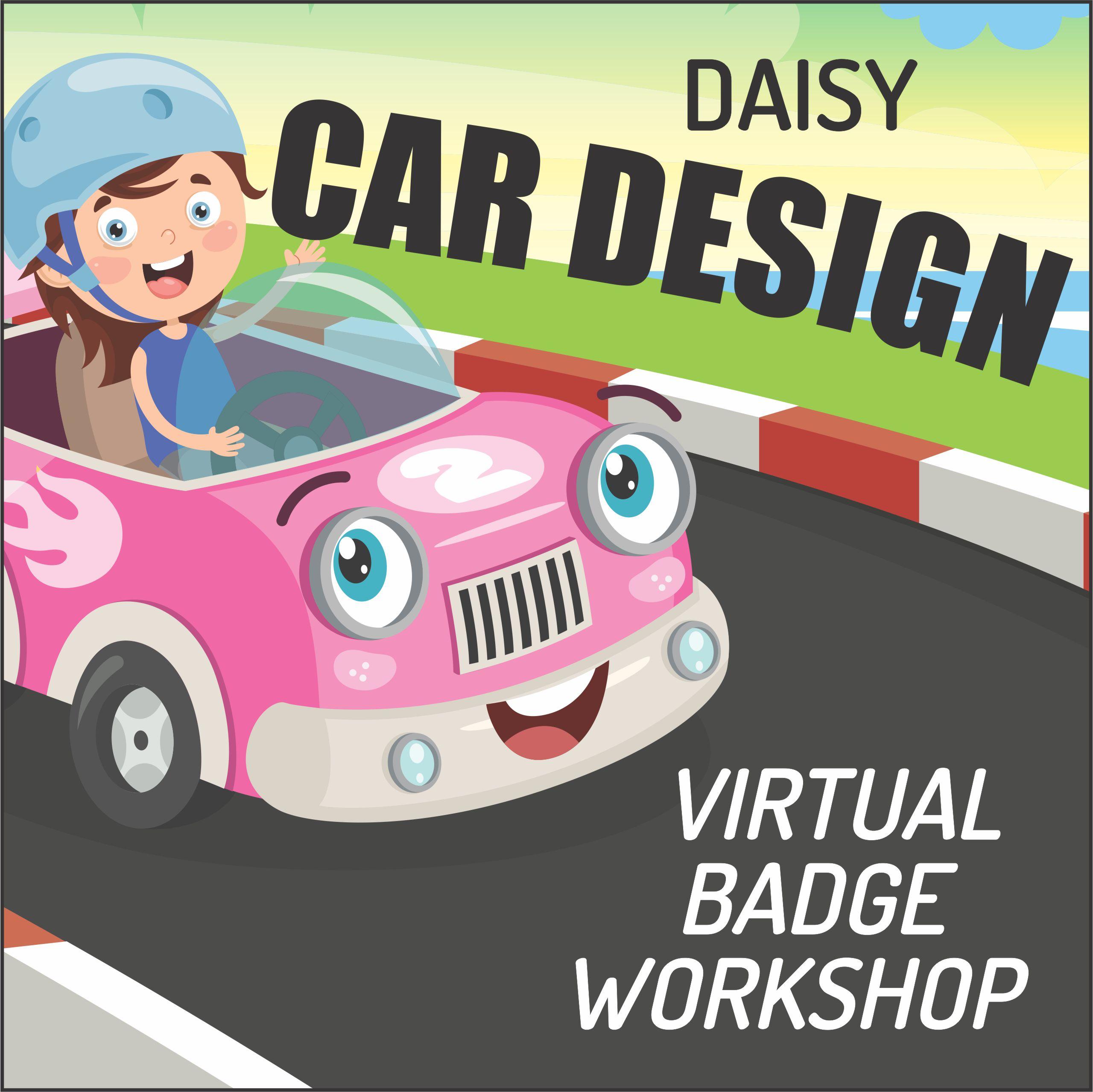 virtual girl scout badge workshop daisy car design