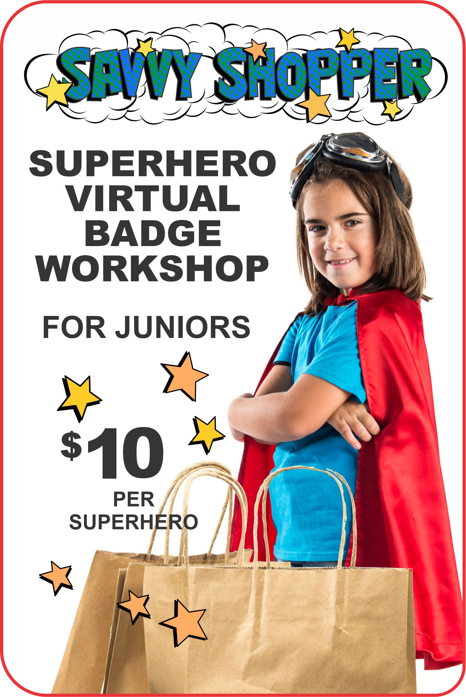 Join us online for a 1 hour virtual workshop where your girls will learn about being a savvy shopper! #makingfriends #virtualclass #savvyshopper #patchprogram #virtual #onlineclass #virtualworkshop #onlinegirlscouts #virtualscouts via @gsleader411