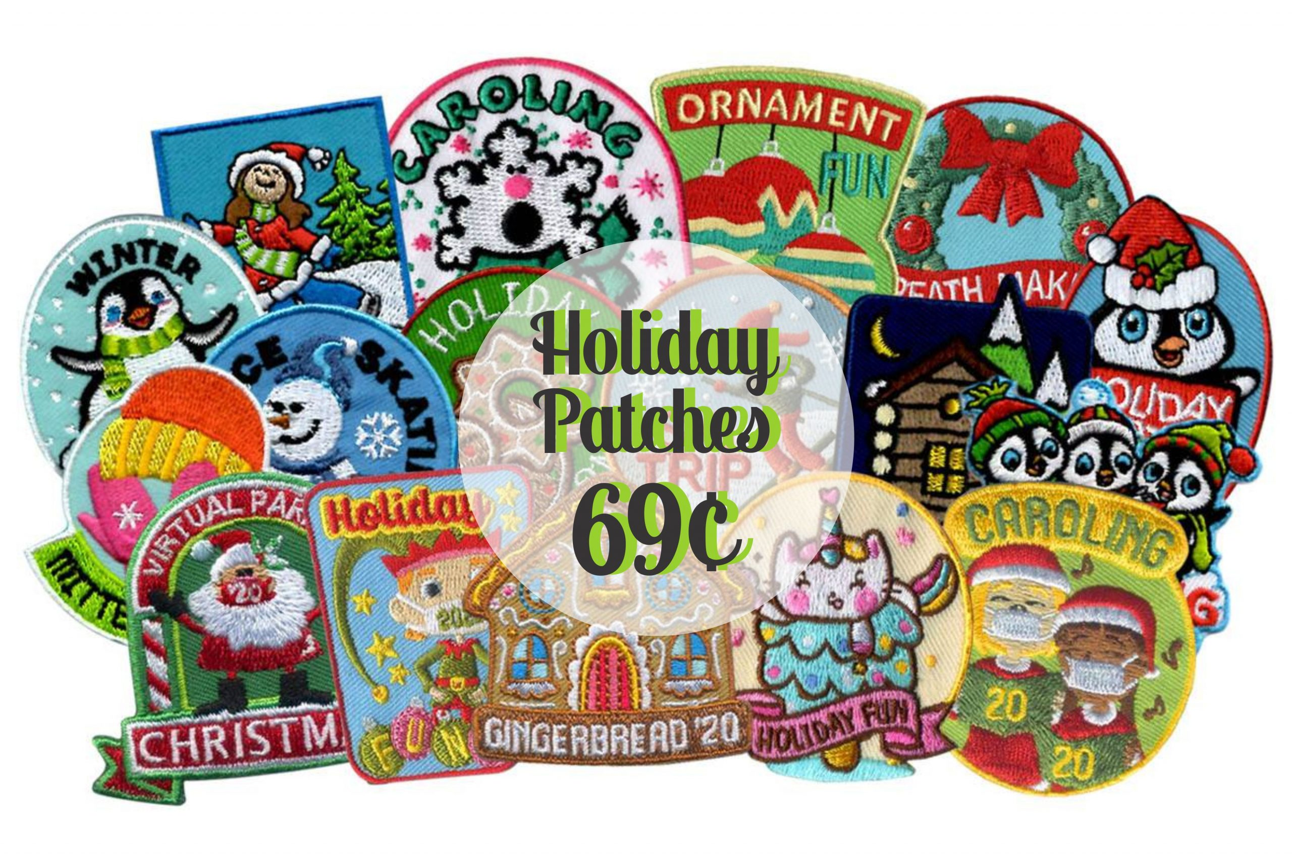 holiday patches 69 cents